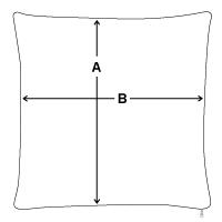Sofa pillowcase 17,3'' x 17,3'' (45 x 45 cm) | Spreadshirt