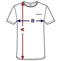 T-shirt med antydd bröstficka