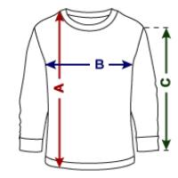 Teenager shirt met lange mouwen van Fruit of the Loom